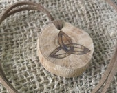 Oak Triquetra Necklace