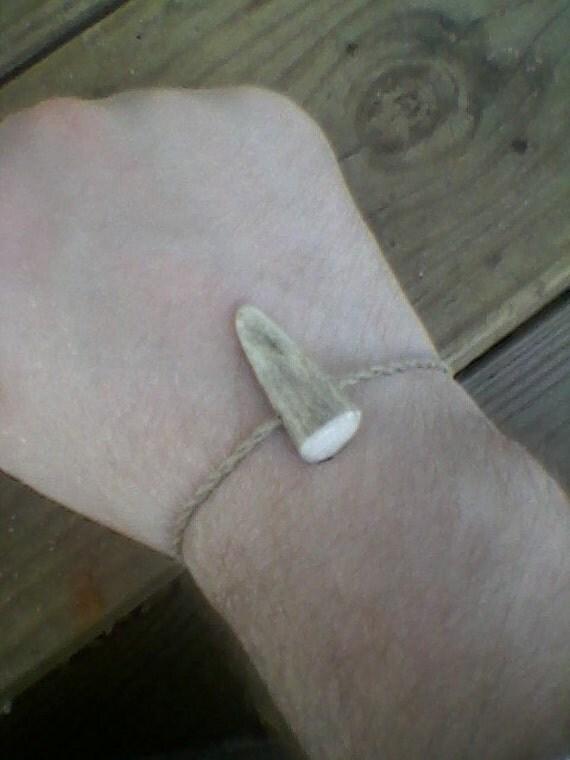 Deer antler point bracelet