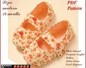 Baby Shoes PATTERN + Free Mother-Daughter Apron Pattern, Mary Jane Sewing PDF Pattern, Toddler Girl, Baby, Children, E Book, Tutorial