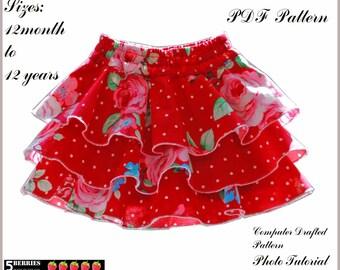 Emma Twirl Girls Skirt Pattern + Free Mother-Daughter Apron Pattern, Girls Shorts Pattern Skort Sewing Patterns on ETSY Toddler
