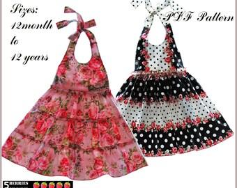 Madison Girls Dress Pattern + Free Mother-Daughter Apron Pattern, Children's SEWING PATTERNS, pdf, baby, toddler
