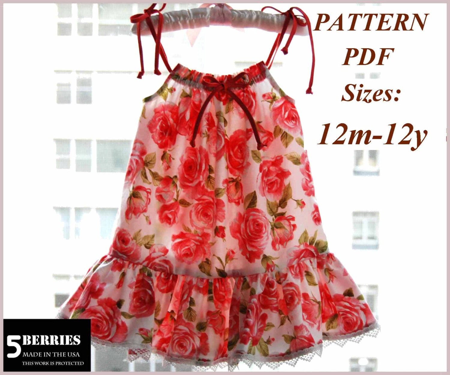 Cute Ideas For Pillowcase Dresses : Maria Pillowcase Girls dress PATTERN Free Mother-Daughter