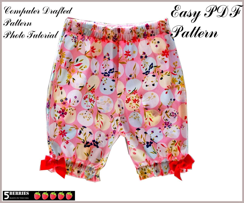 Easy GIRLS PANTS PATTERN Free Mother-Daughter Apron Pattern