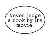 never judge a book bumper sticker
