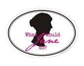 what would jane do oval sticker