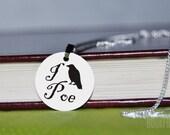 i crow poe charm necklace