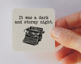 dark and stormy night square magnet