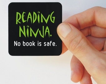 reading ninja square magnet