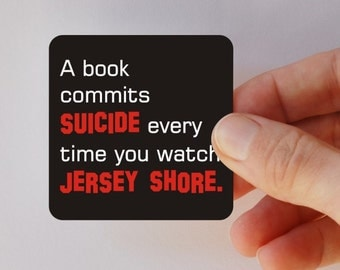 a book commits suicide square magnet
