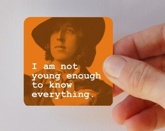 WILDE not old enough square magnet