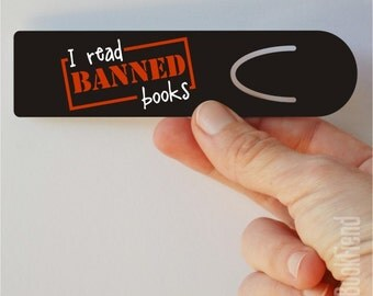 i read banned books aluminum bookmark