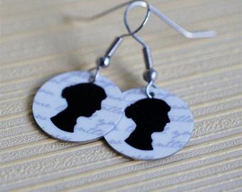 Jane Austen silhouette earrings