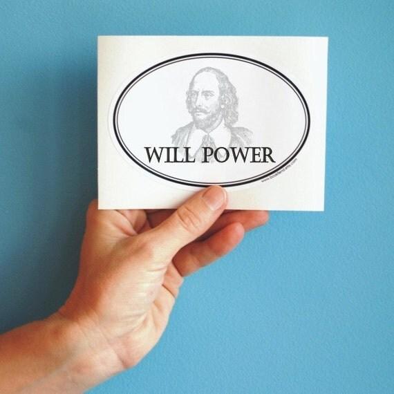 will power oval sticker