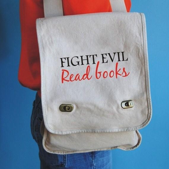 fight evil messenger bag