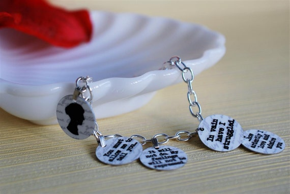 Mr Darcy's proposal charm bracelet