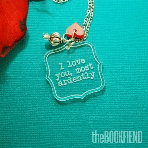 I love you, most ardently acrylic necklace