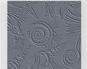Unmounted Rubber Stamp SEA SHELLS Texture Stamp for Clay by USArtQuest
