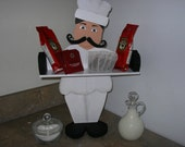Fat Chef - Standing Wooden Shelf / Spice Rack
