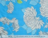 Amy Butler Belle Chrysanthemum Blue Rowan fabrics Long Quarter Yard