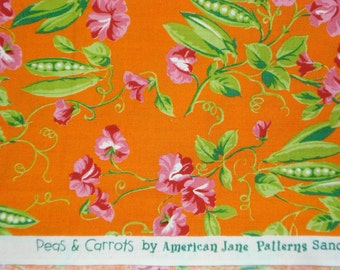 American Jane Peas and Carrots Sweet Pea orange moda fabrics FQ or more