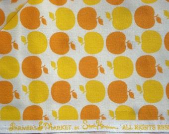 SALE : Farmer's Market Apple Dot Yellow/Orange Michael Miller Sandi Henderson fabric FQ or more