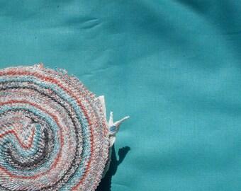 Hello Betty Retro Aqua Solid moda fabrics FQ