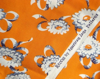 SALE : American Jane Recess Playground Orange flowers FQ or more