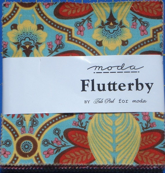 Flutterby Charm Pack Tula Pink moda fabrics