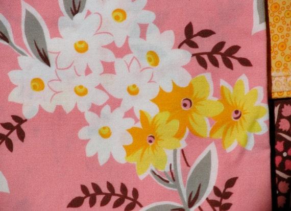 Price Drop: FQ Flea Market Fancy Pink Bouquet Denyse Schmidt Fabric