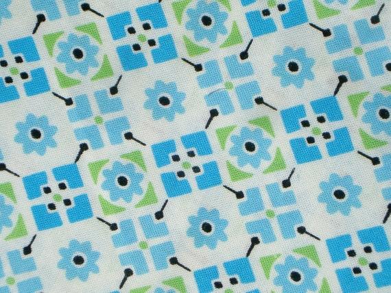 DS Quilts Denyse Schmidt Modern Tile Blue Fairgrounds  FQ last piece