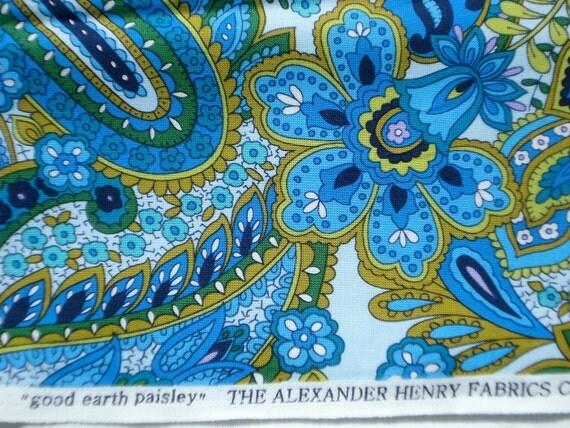 "Alexander Henry ""good earth paisley"" fabric 2009 FQ last piece"