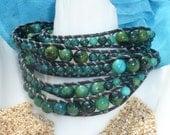 GrassGreen Turquoise 5 Wrap Bracelet