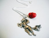 Horse Lovers Necklace-Silver Horse Necklace