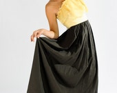 One Shoulder Chardonnay Chiffon Twirl Dress by CWCouture