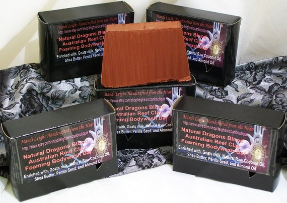 Reserved for Aneurythm Soap Dragons Blood and Australian Reef Clay 3 bars