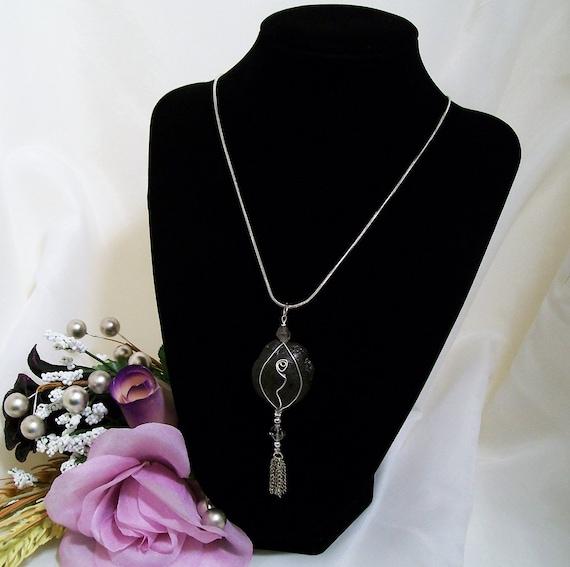 Custom Reserved for M M Shaman, Chakra, Kansas Boji Power Stone Silver Necklace & Keychain Jewelry Set