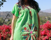 Bohemian Baby Pretty Pretty Vintage Mexican Hand Embroidered Dress Older