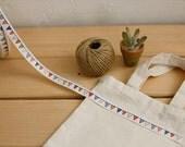 SALE Zakka Retro Cotton Ribbon Fabric  Sewing Tape  Label /Collection 10 Yards