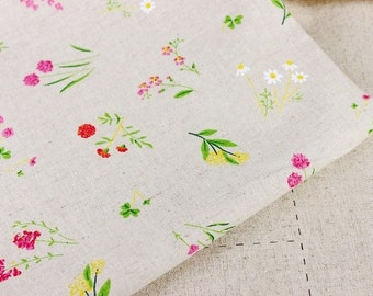 Last - ON SALE - 300cmx140cm -Japanese cotton linen blended fabric-Vanilla