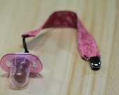 Pretty and Pink Dummy (Pacifier) Clip