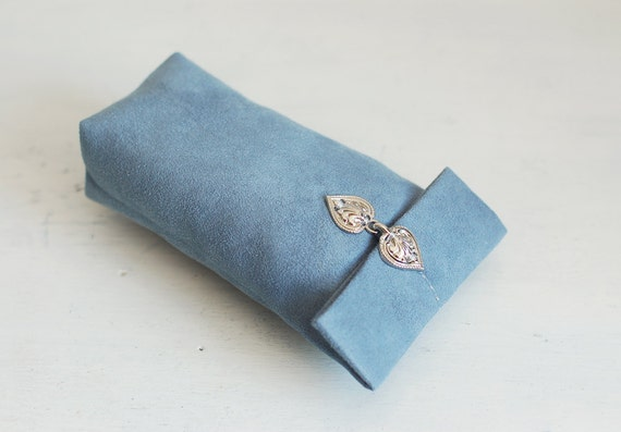 RESERVED Blue Sunglasses or glasses case