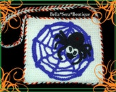 Boutique Spider Halloween Trick or Treat Bag Purse Tote Crochet Ready to Ship