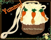Boutique Custom Crochet Carrot Cupcake Purse Easter
