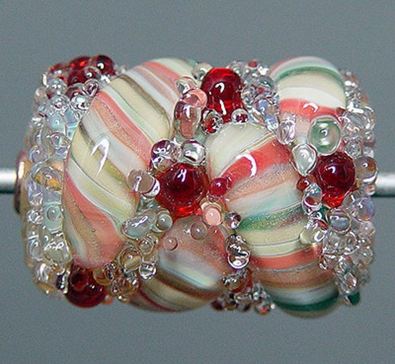 Multicolored  Lampwork  Focal Bead   SALE