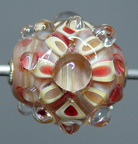 Red  Lampwork  Focal Bead    SALE
