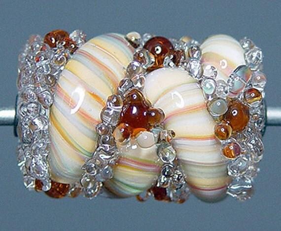 Lampwork  Focal Bead  Multicolor   SALE