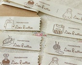 Handmade Linen And Cotton Japanese Fabric Labels To Use on Sewing Projects 1 Yard