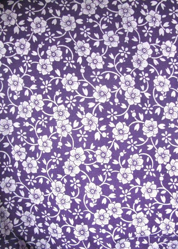 Retro Purple Fabric Retro Bright Purple With White