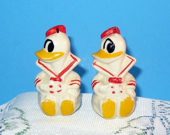 Vintage Donald Duck Salt and Pepper Shakers