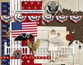 Taste of Americana  - Digital Scrapbooking Kit INSTANT DOWNLOAD